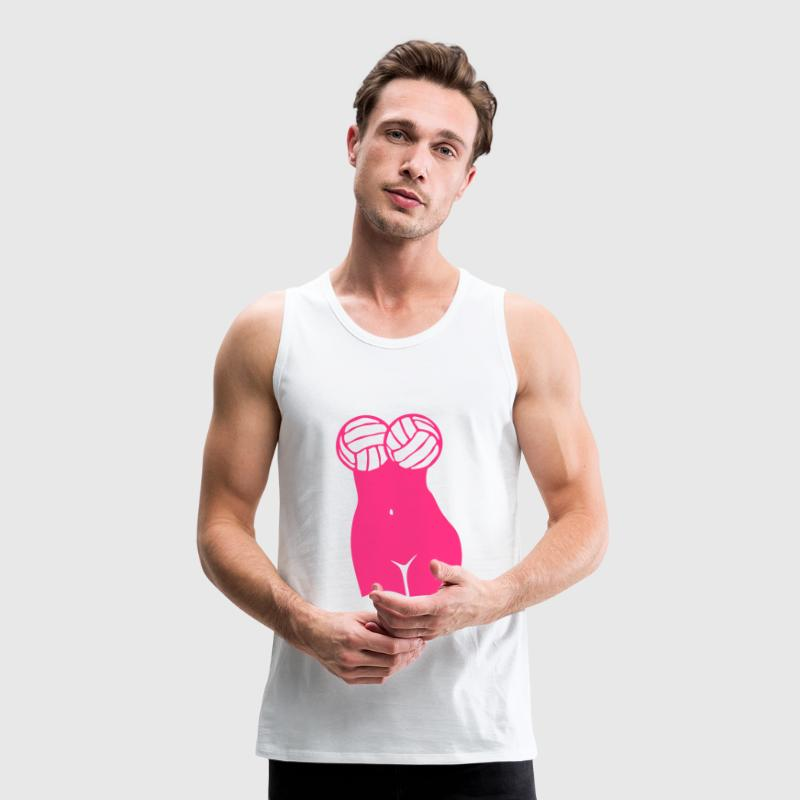 Volleyball ball girl sexy body woman Sports wear - Men's Premium Tank Top