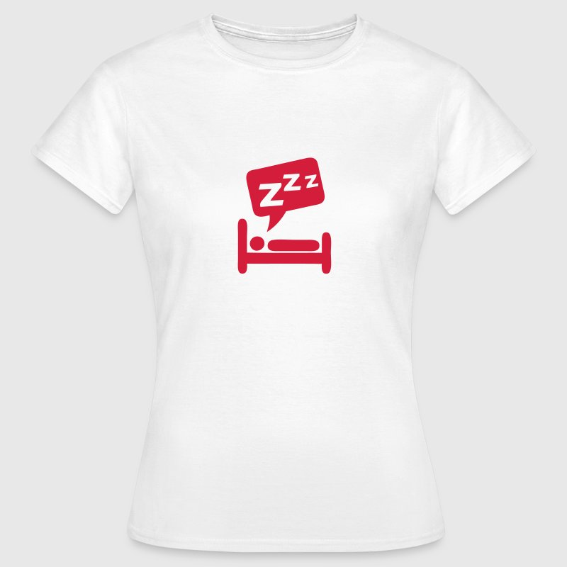 Sleeping bubble zzz icon bed 404 T-Shirts - Women's T-Shirt