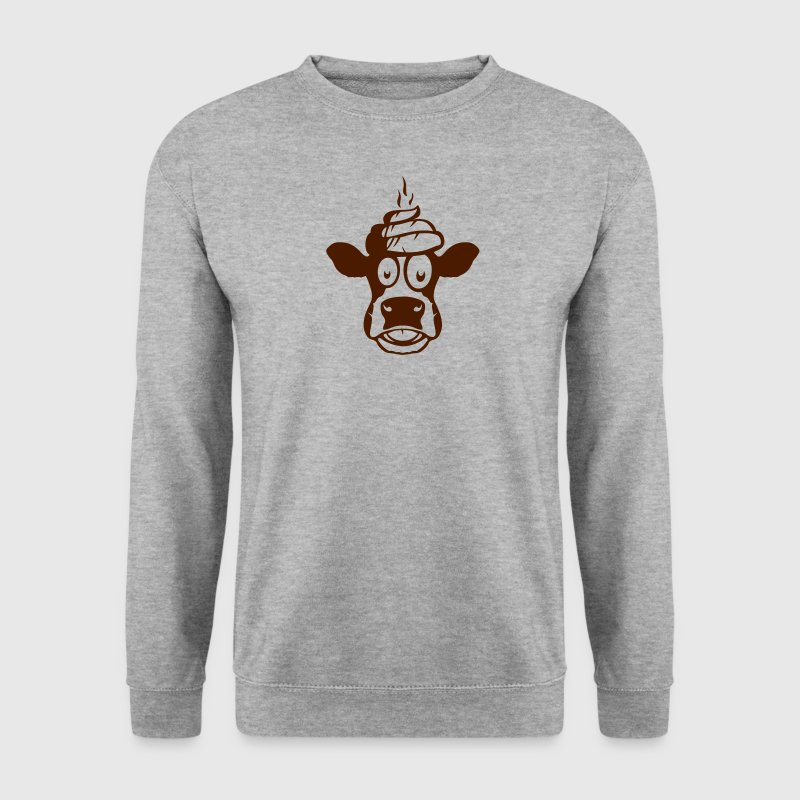 vache dessin merde caca tete Sweat-shirts - Sweat-shirt Homme