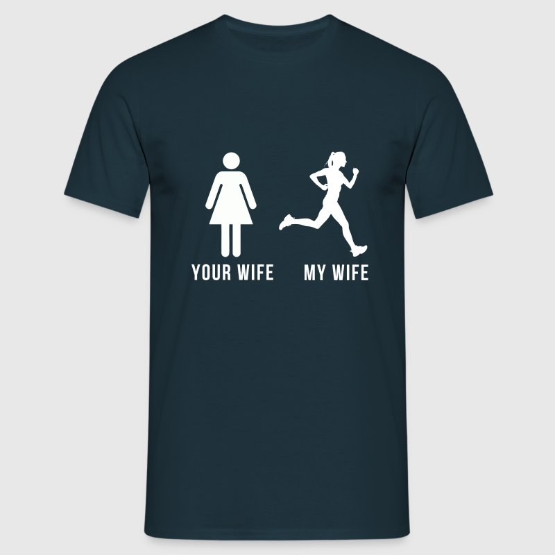 Your wife my wife-runner T-Shirts - Men's T-Shirt