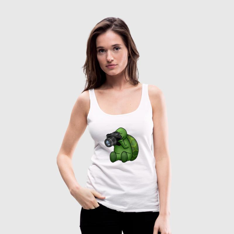 Turtle Photographer - Women's Premium Tank Top