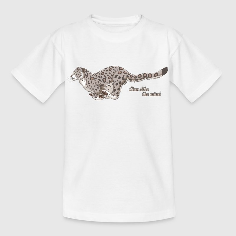 Snow Leopard Running Shirts - Kids' T-Shirt