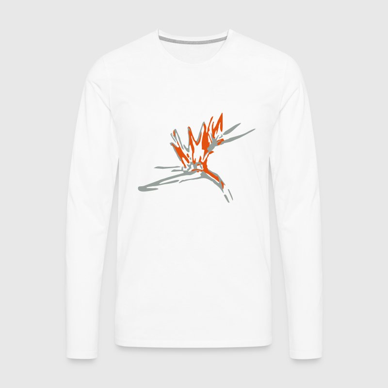 bird of paradise flower Long sleeve shirts - Men's Premium Longsleeve Shirt