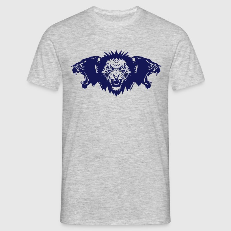lion rugit face panthere profil Tee shirts - T-shirt Homme