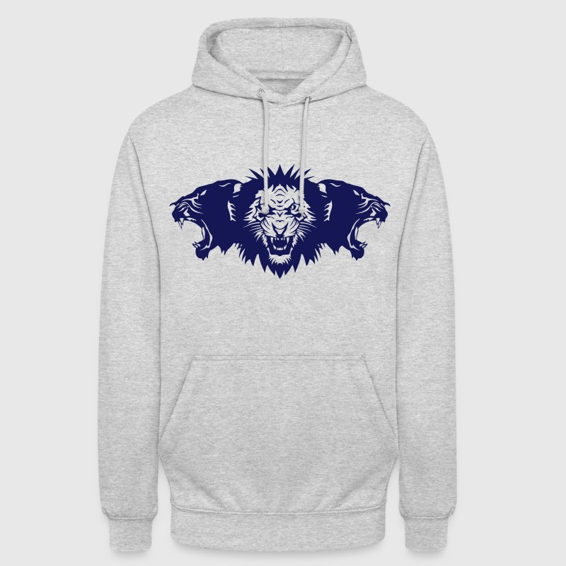 lion rugit face panthere profil Sweat-shirts - Sweat-shirt à capuche unisexe