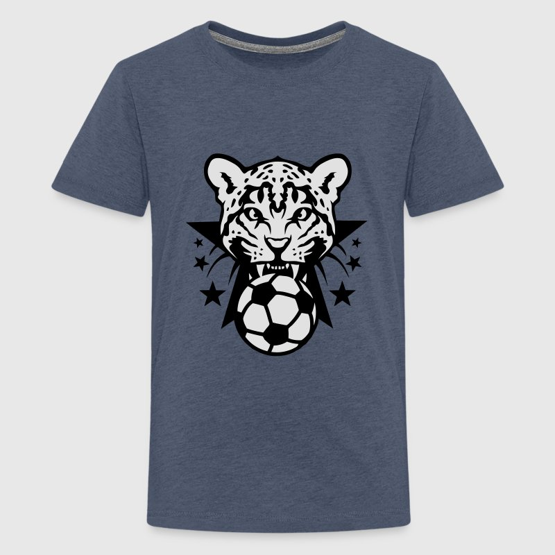 Football leopards tooth fierce Logo club Shirts - Teenage Premium T-Shirt