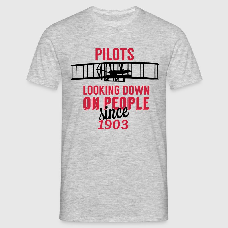 Pilots looking down T-Shirts - Männer T-Shirt