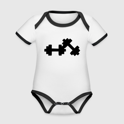 dumbbells Shirts - Organic Baby Contrasting Bodysuit