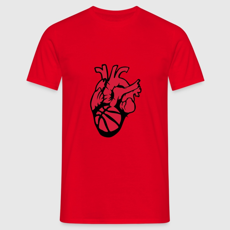 Basketball Heart Balloon Life T-Shirts - Men's T-Shirt