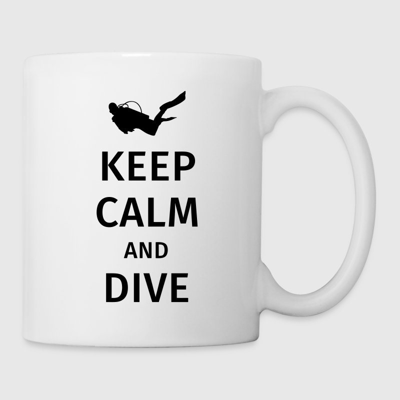 keep calm and dive Tazas y accesorios - Taza