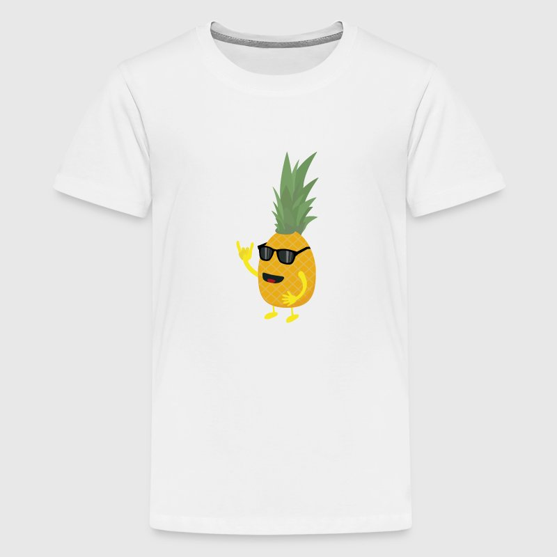 Heavy Metal Ananas T-Shirts - Teenager Premium T-Shirt