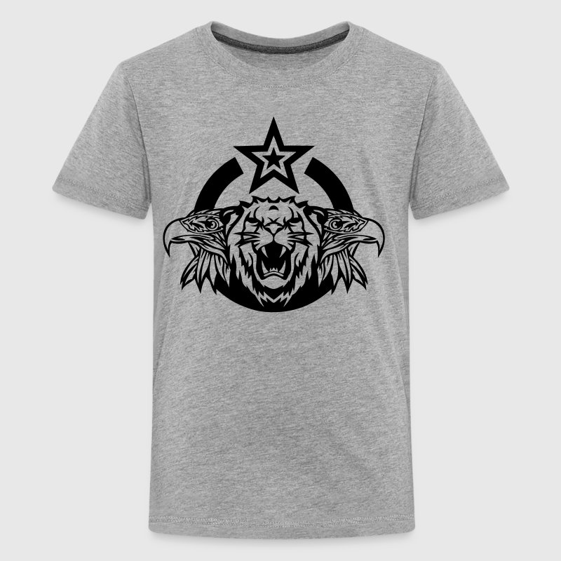Eagle lion logo head roar royal Shirts - Teenage Premium T-Shirt