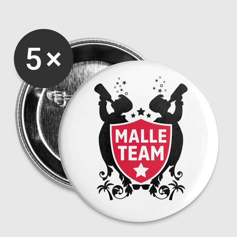 malle party team Buttons & Anstecker - Buttons groß 56 mm
