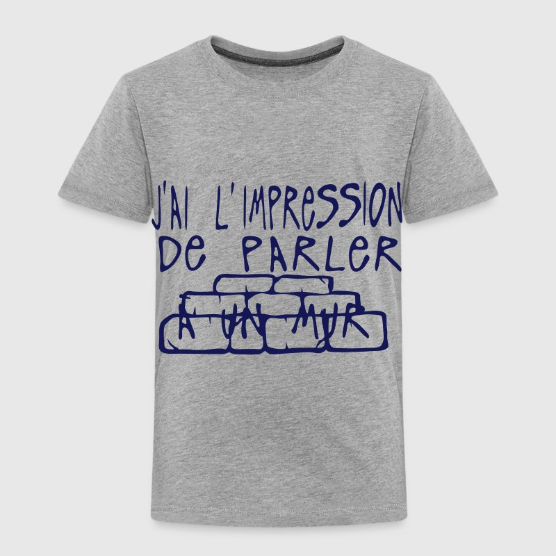 impression parler mur citation Tee shirts - T-shirt Premium Enfant