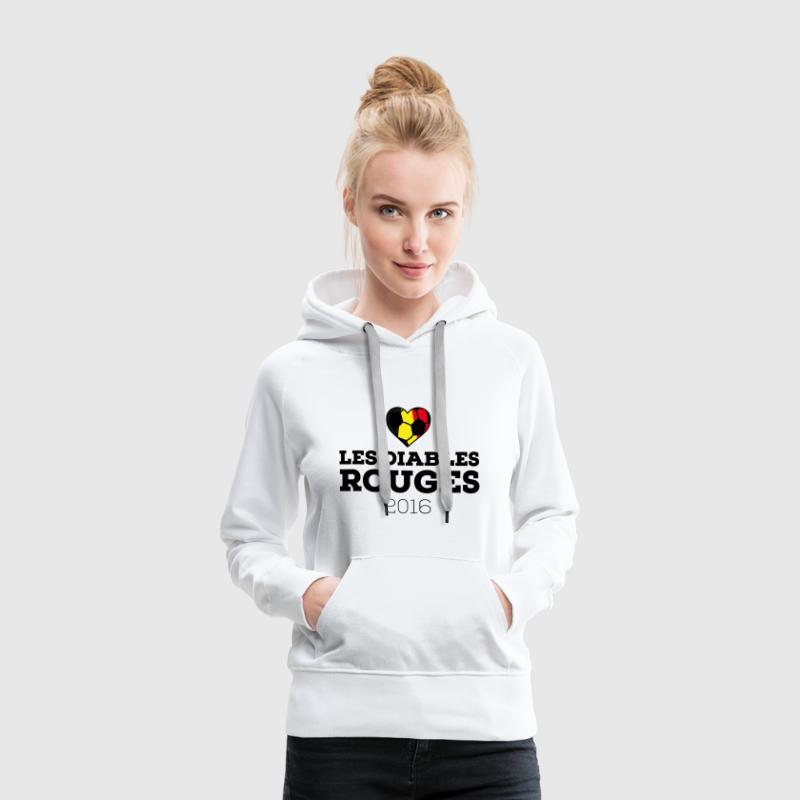 EM 2016 Les Diables Rouges Belgium Sweat-shirts - Sweat-shirt à capuche Premium pour femmes