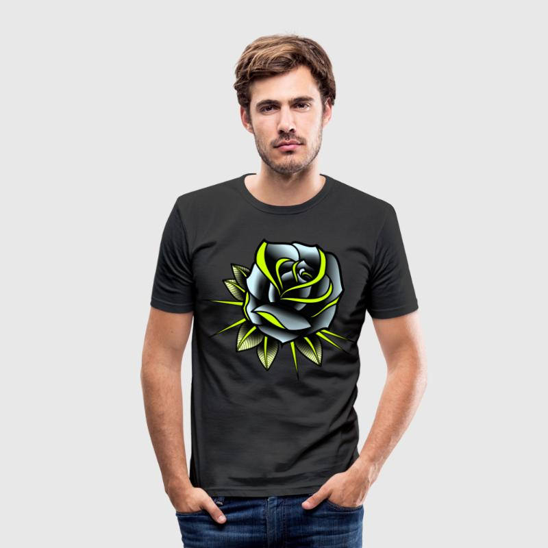 Metallic-Rose Slim Fit - Männer Slim Fit T-Shirt