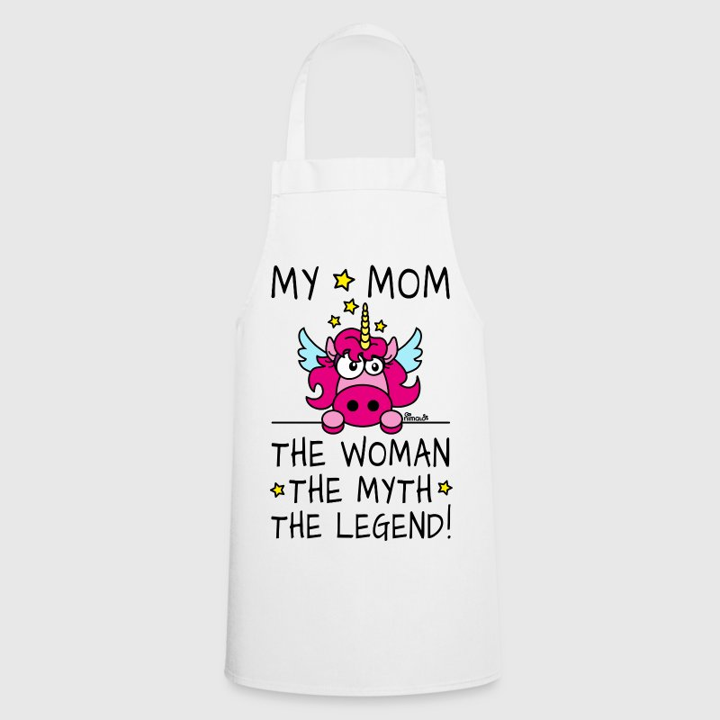 Tablier Unicorn, My Mom, Woman, Myth, Legend - Tablier de cuisine