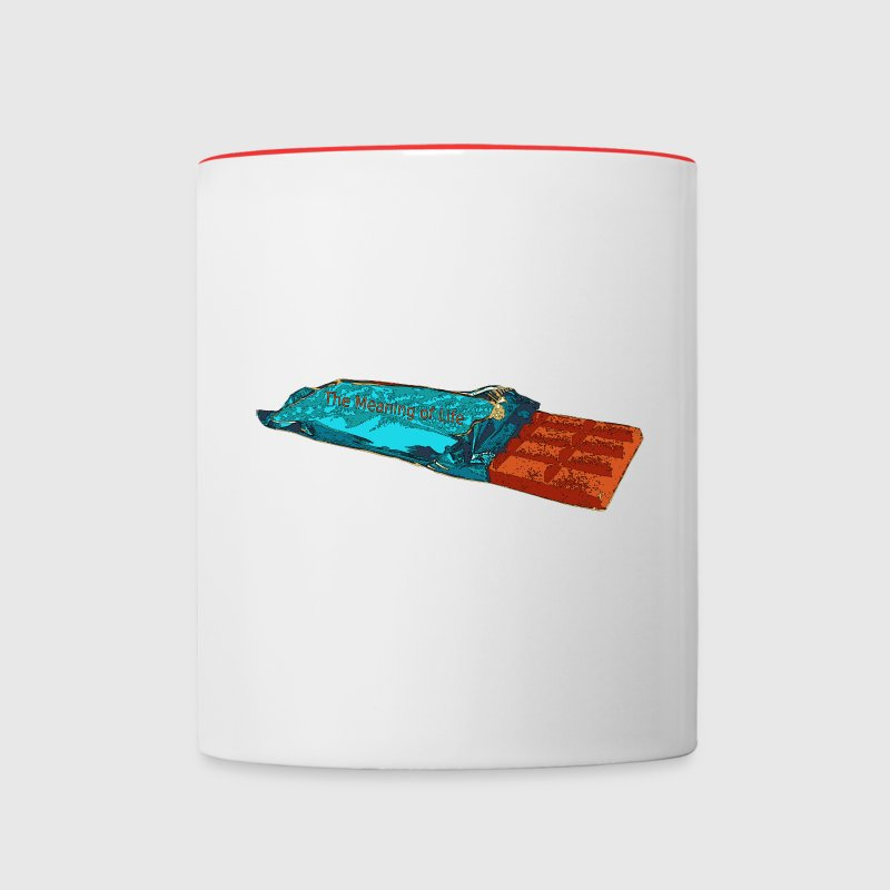 schokolade meaning of life tasse spreadshirt. Black Bedroom Furniture Sets. Home Design Ideas
