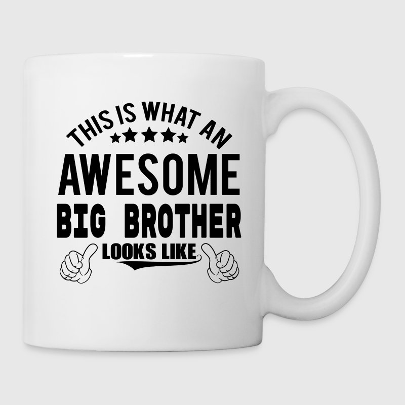 THIS IS WHAT AN AWESOME BIG BROTHER LOOKS LIKE Mugs & Drinkware - Mug