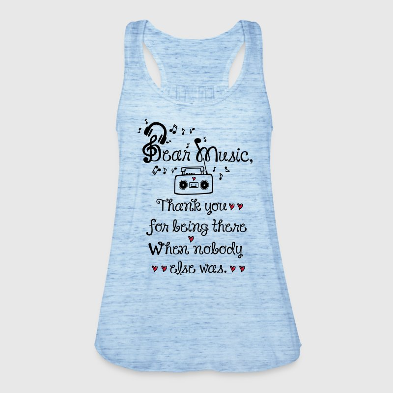 Dear music thank you Women's Tank Top by Bella - Women's Tank Top by Bella
