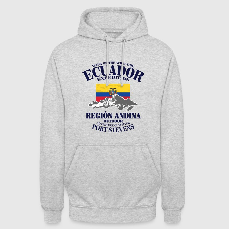 Ecuador - Flag & Mountains Pullover & Hoodies - Unisex Hoodie