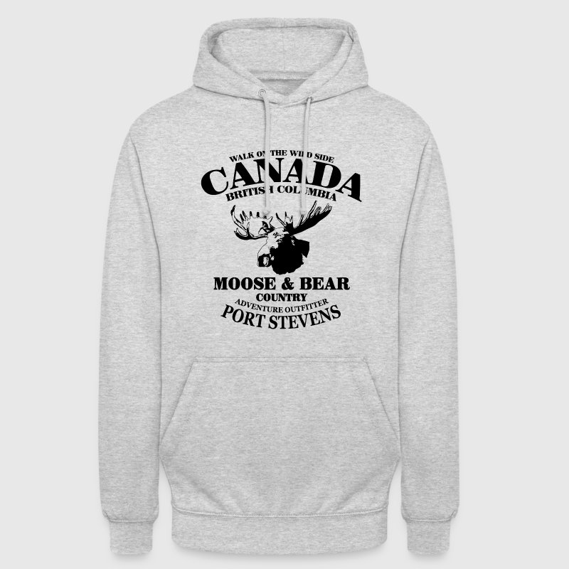 Moose - Canada Sweat-shirts - Sweat-shirt à capuche unisexe