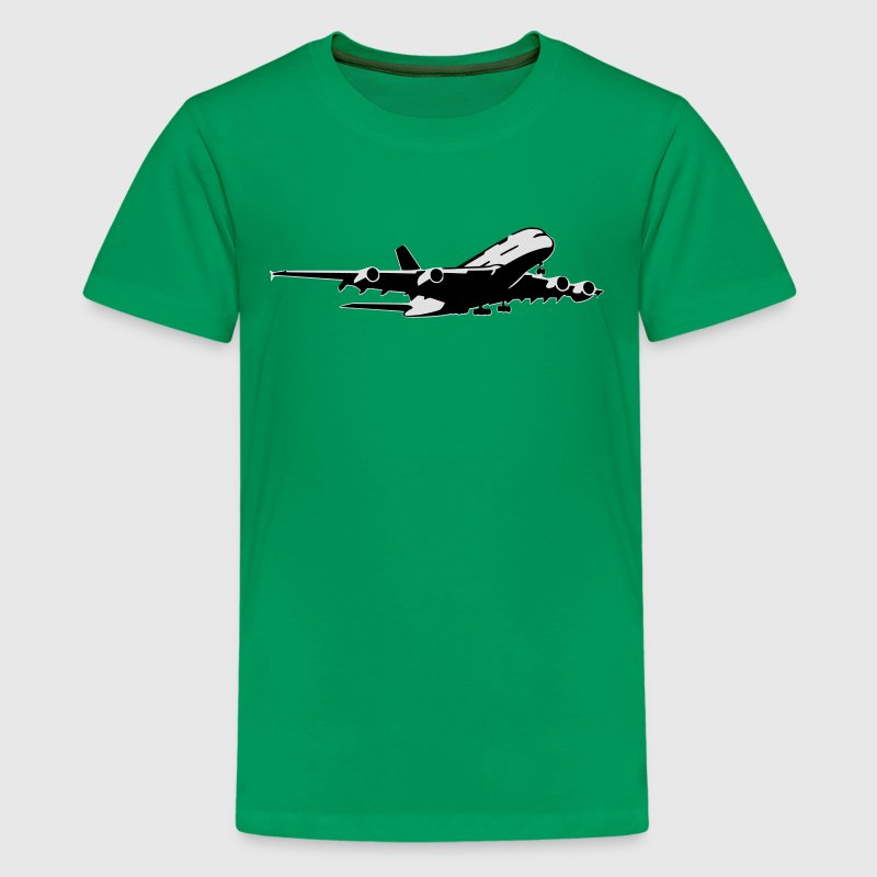 airplane Flugzeug A 380 (2 color) T-Shirts - Teenager Premium T-Shirt