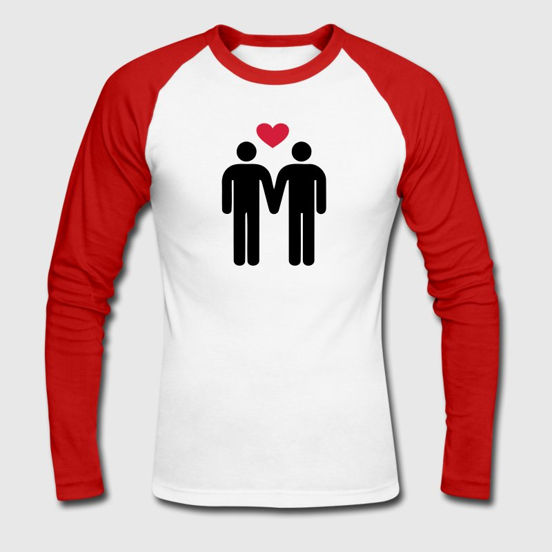 Gay Love  Long sleeve shirts - Men's Long Sleeve Baseball T-Shirt