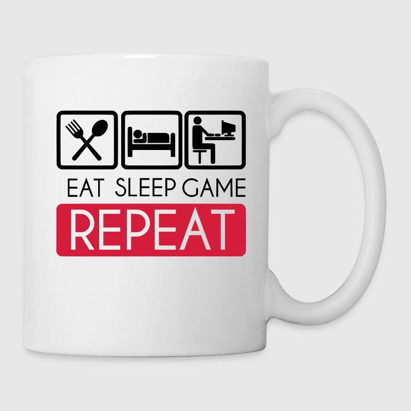 Eat, Sleep, Game Repeat Tassen & Zubehör - Tasse