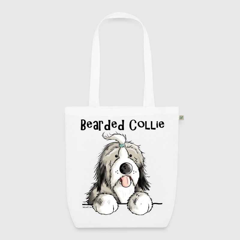 Sweet Bearded Collie Bags & Backpacks - EarthPositive Tote Bag
