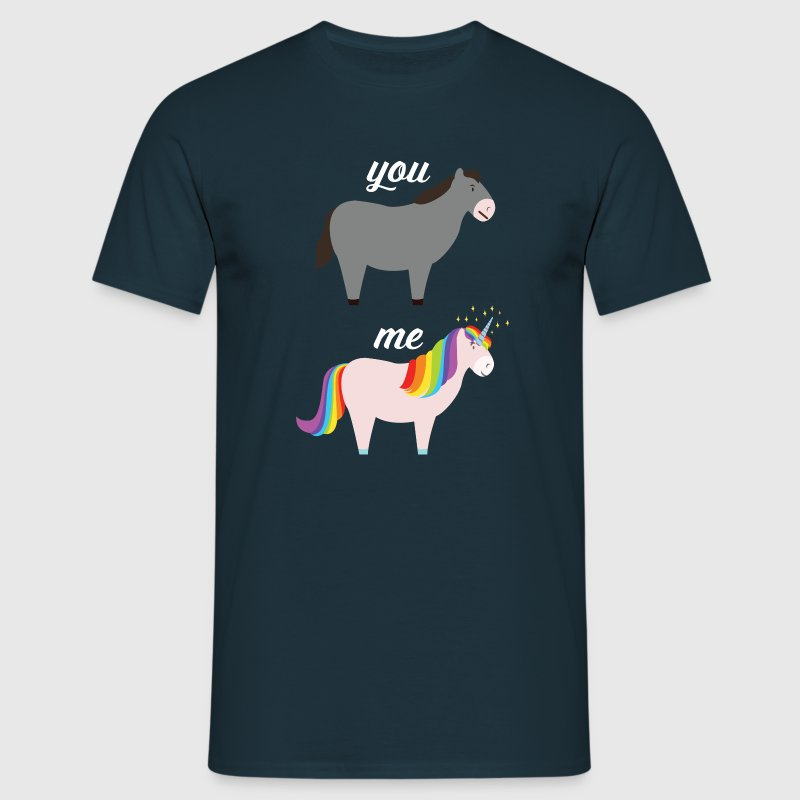 You VS Me (Donkey - Unicorn) Camisetas - Camiseta hombre