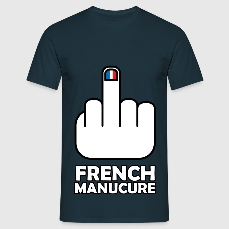 Tee Shirt France Humour bleu blanc rouge French Ma - T-shirt Homme