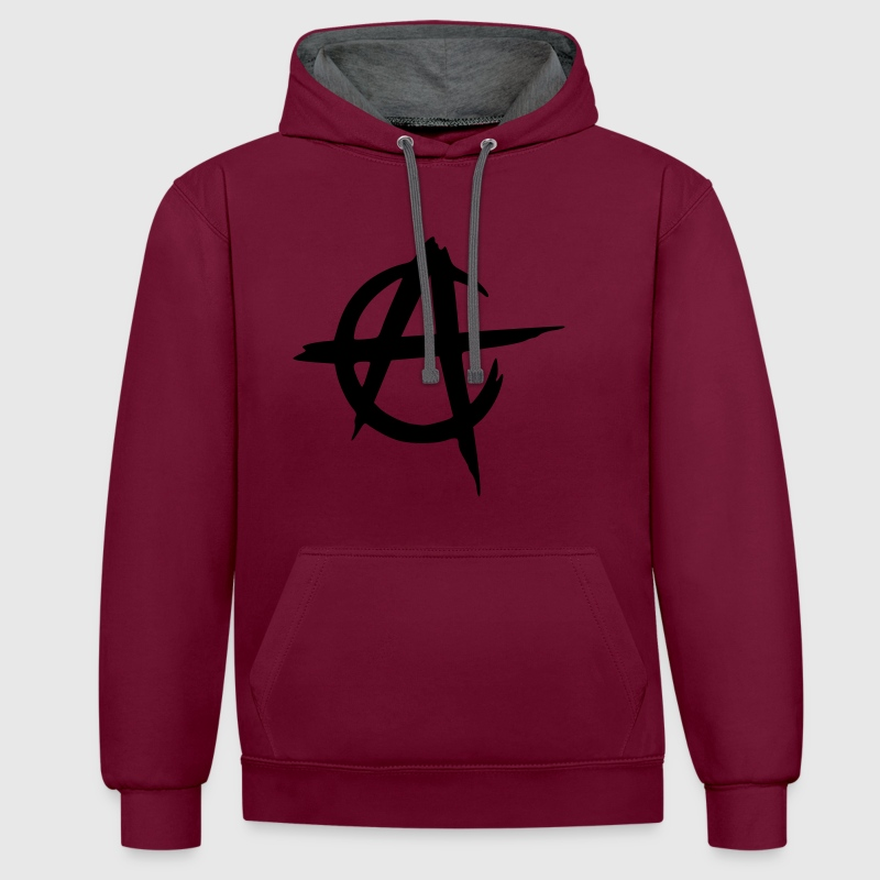 anarcho capitalism  - Contrast Colour Hoodie