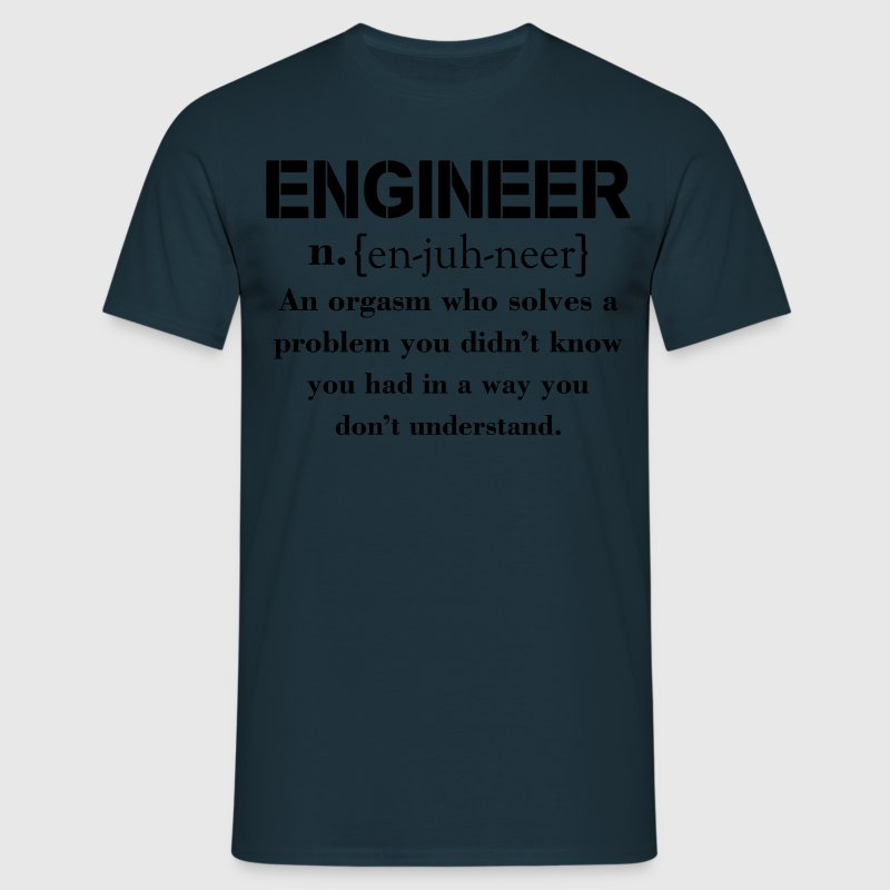 Engineer Definition Funny T-shirt T-Shirts - Men's T-Shirt