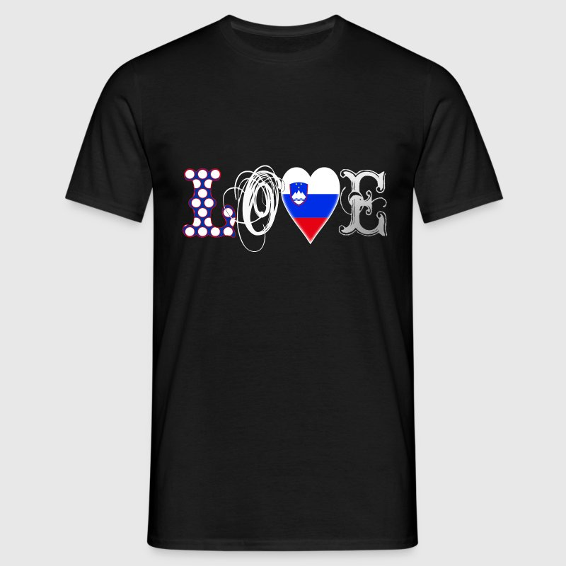 Love Slovenia White T-Shirts - Men's T-Shirt