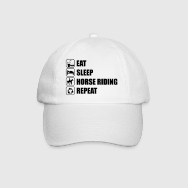 Eat Sleep Horse Riding  Tee shirts - Casquette classique