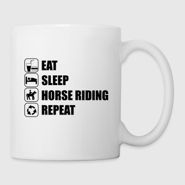 Eat Sleep Horse Riding  Tee shirts - Tasse