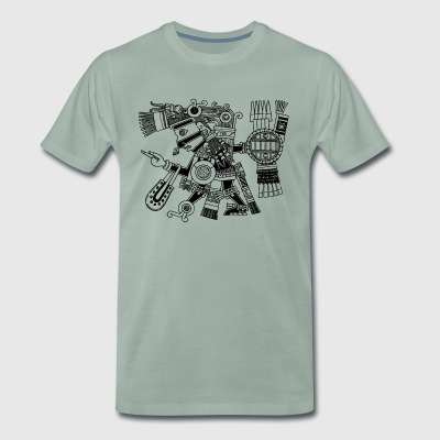 Maya God, Mexico, Warrior, DD T-shirts - Mannen Premium T-shirt