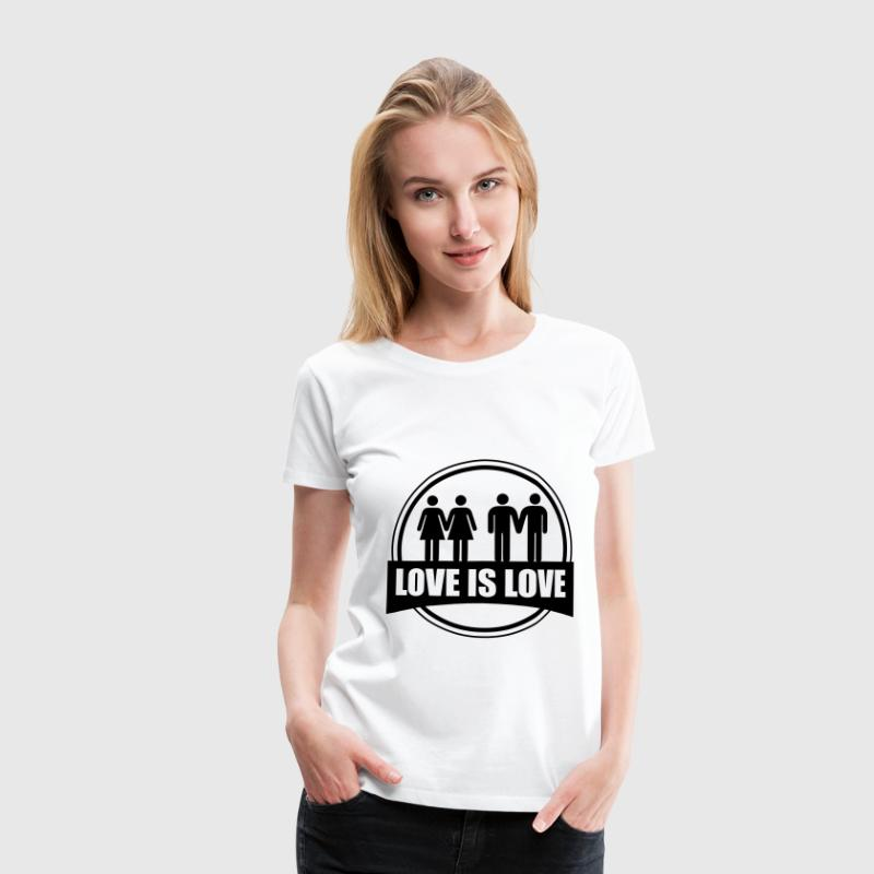 LOVE IS LOVE GAY LESBIAN T-skjorter - Premium T-skjorte for kvinner