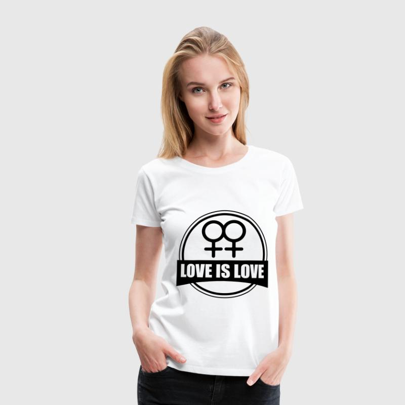 LOVE IS LOVE LESBIAN T-Shirts - Women's Premium T-Shirt