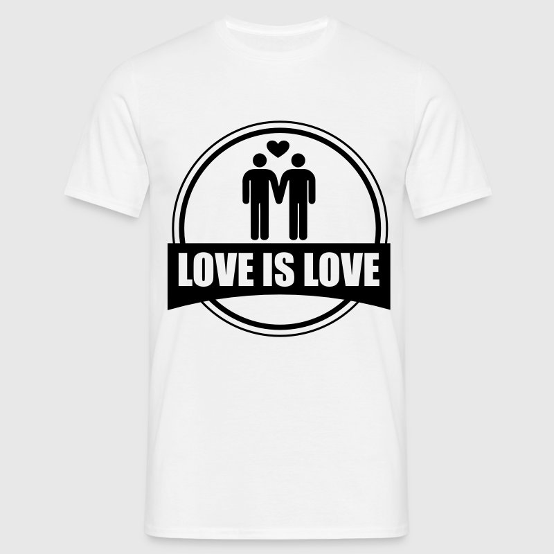 LOVE IS LOVE GAY T-Shirts - Männer T-Shirt