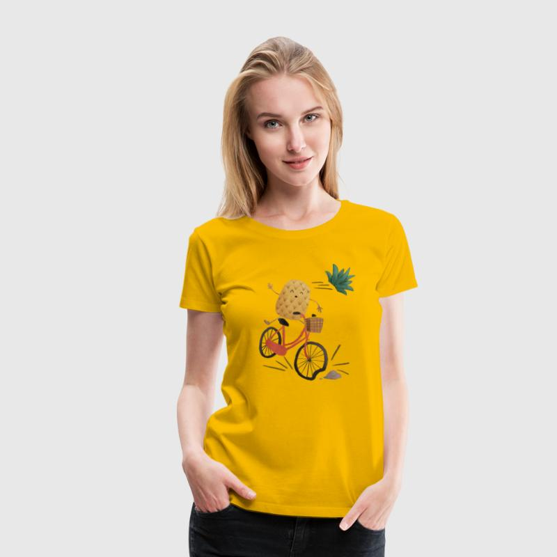 Pineapple Bike Obstacle Camisetas - Camiseta premium mujer
