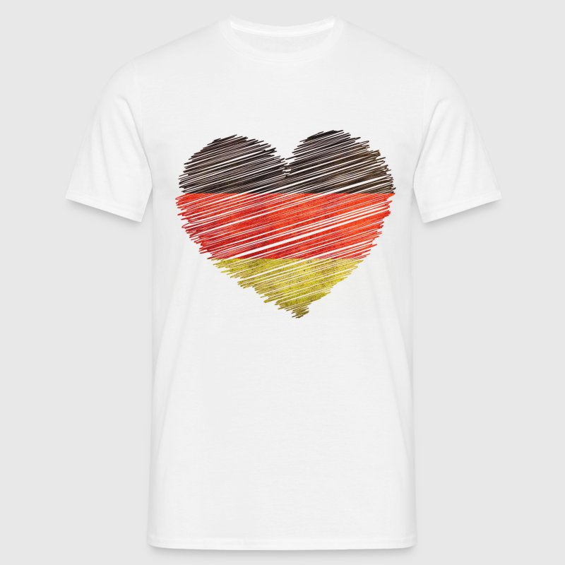 allemagne germany drapeau Tee shirts - T-shirt Homme