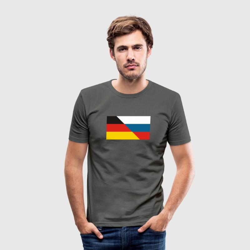 DE-RU FLAGGE T-Shirts - Männer Slim Fit T-Shirt
