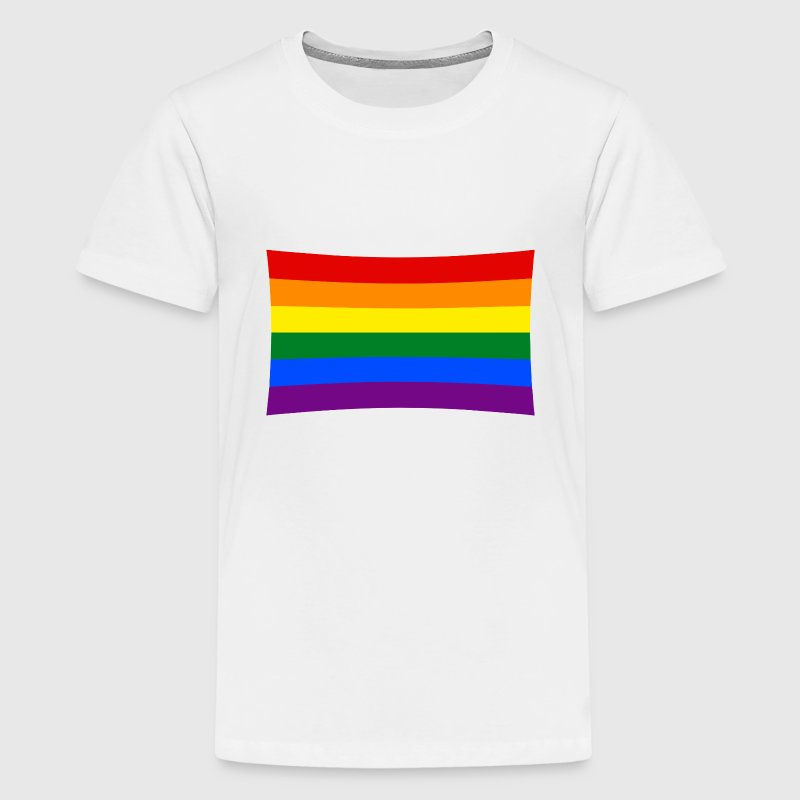 rainbow flag, pride T-shirts - Teenager premium T-shirt