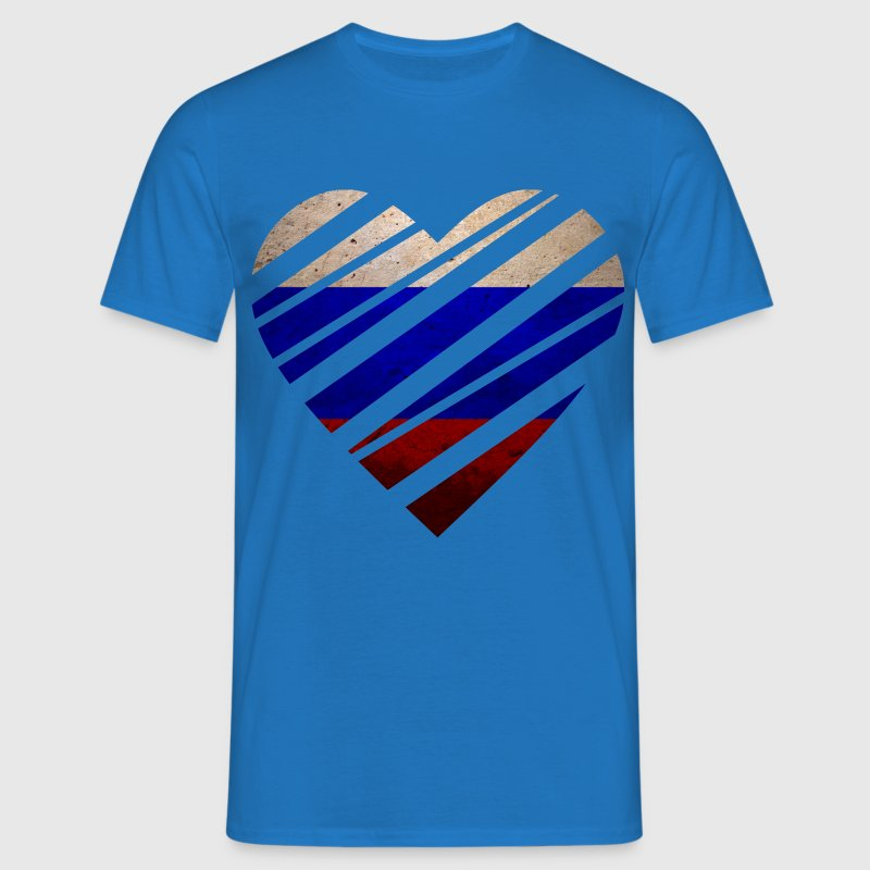 Russia Heart Tee shirts - T-shirt Homme