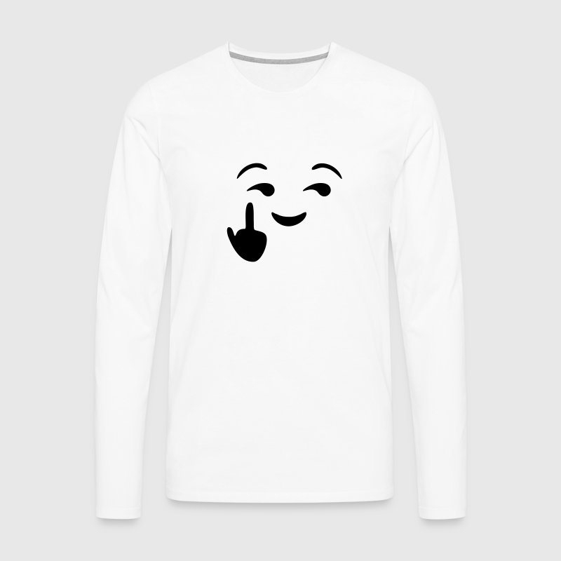 Fuck you emoji - emoticon - smiley Long sleeve shirts - Men's Premium Longsleeve Shirt