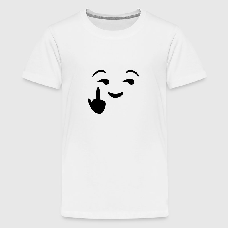 Fuck you emoji - emoticon - smiley T-shirts - Teenager premium T-shirt