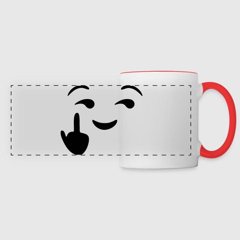 Fuck you emoji - emoticon - smiley Bouteilles et Tasses - Tasse panorama