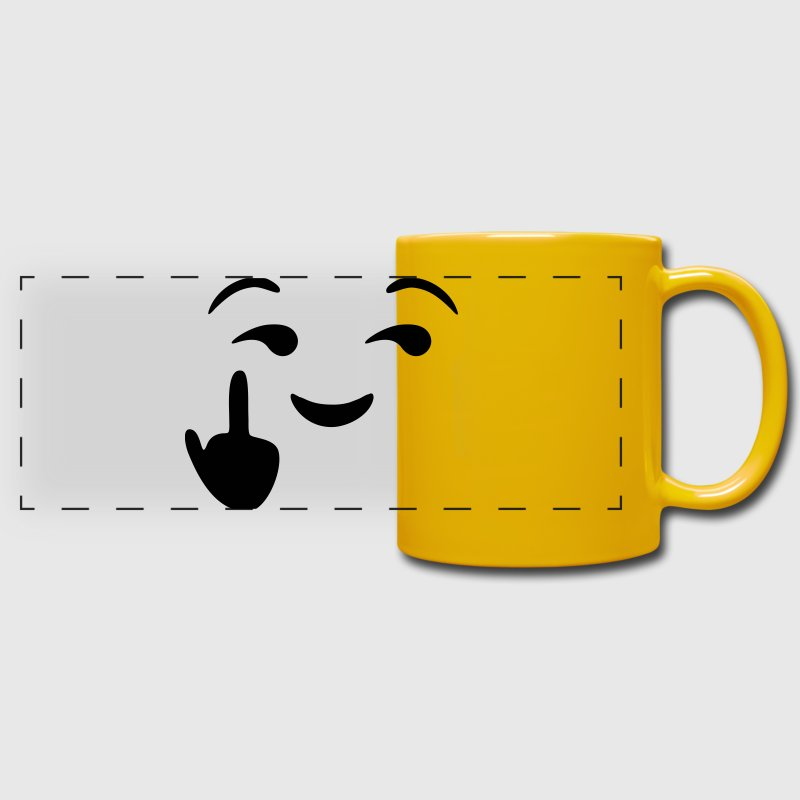 Fuck you emoji - emoticon - smiley Bouteilles et Tasses - Tasse panoramique en couleur